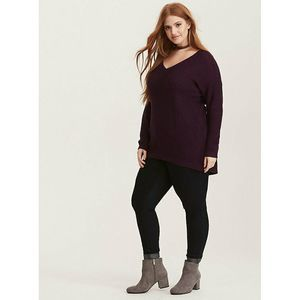 Torrid Slouchy V-Neck Pullover Sweater Size 5 5X